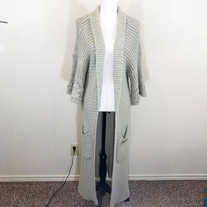 Wildfox White Label Chunky Knit Cardigan Gray Sm